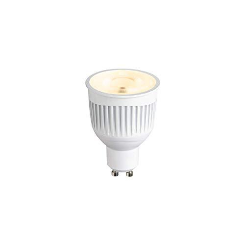 SLV PLAY - Lampadina LED Smartes WLAN, dimmerabile, GU10, bianco caldo fino alla luce diurna, 6,7 W, sostituisce 40 Watt, senza hub compatibile con Alexa e Google Home Assistant, 450 Lumen, CCT