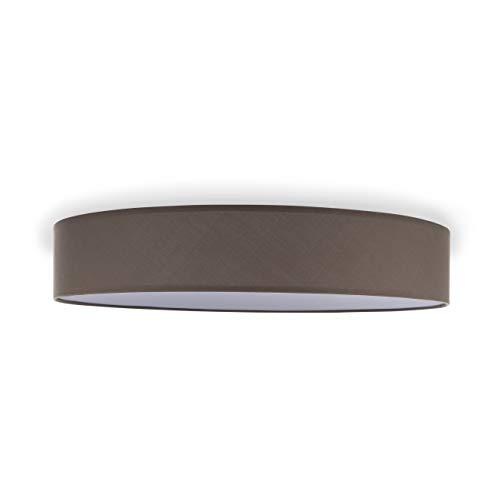 Smartwares Lampada Plafoniera Dream IDE-60048 , 60 cm, Design moderno in tessuto, Marrone chiaro