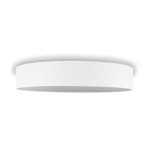 Smartwares Plafoniera da Soffitto DE-60046, 60 cm, Arredamento elegante, Tessuto bianco