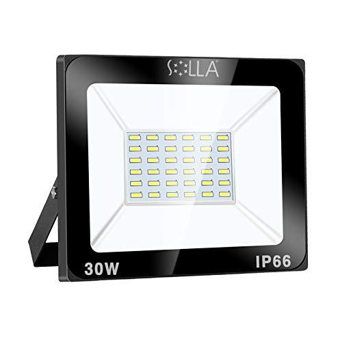 SOLLA Faretto a LED da 30W, IP66 Resistente all'acqua LED esterno, Luce Bianca 6000K, 2400LM