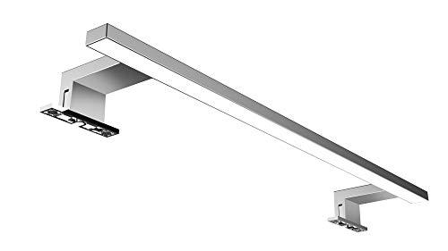 Solupa lampada da specchio LED per bagno FORTUNA – 60CM, 9,6W, 600LM, 220V, 6000K, alluminio, IP44 Classe II, non dimmerabile, Installazione specchio e telaio, luce fredda, 600 mm