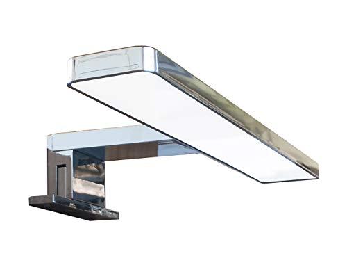 Solupa lampada da specchio LED per bagno LYBRA – 30CM, 5,5W, 300LM, 220V, 6000K, ABS, IP44 Classe II, non dimmerabile, Installazione specchio e telaio, luce fredda, 300 mm