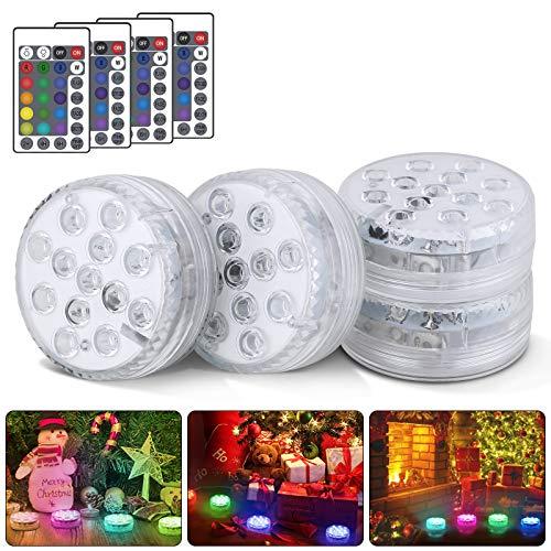 Sommergibile Luce LED, LED Sommergibili Luci Piscina, Luci per Laghetto con Telecomando 13 LED Luci Subacquee RGB per Vasca per Pesci, Stagno, Vasca da Bagno, Piscina, Giardino, Festa in Casa