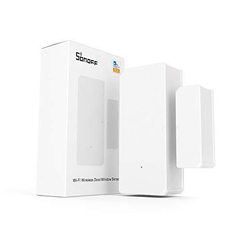 SONOFF DW2 WiFi Sensore porta finestra wireless, avviso APP per sistema domotico di sicurezza allarme wireless, nessun gateway richiesto