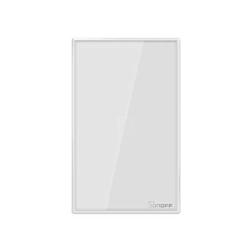 SONOFF T0US1C Interruttore Intelligente Luce Wireless WiFi da Muro, Interruttore a 1 Canale per Soluzioni di Automazione della Casa Intelligente, è Compatibile con Alexa, Google Home(1-way)