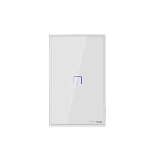 Sonoff T1 US 1/2/3 Gang Smart Touch Luce Interruttore Intelligente WiFi RF Timing Countdown Interruttore della Lampada da Parete di Controllo remoto (T1-US-1GANG)