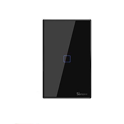 SONOFF T2 T3 US TX Smart Wifi Touch Interruttore a parete con bordo Smart Home 1/2/3 Gang 433 Controllo RF/Voice/APP funziona con Alexa (TX-T3-1C)