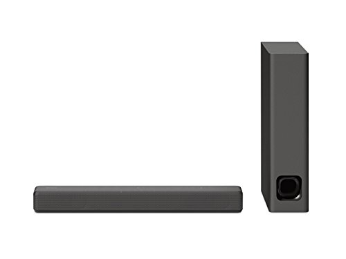 Sony HT-MT300 Soundbar compatta, Potenza 100W, Subwoofer wireless con settaggio a 2 vie, Bluetooth, NFC, USB, Nero