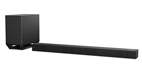 Sony HT-ST5000 Soundbar Dolby Atmos 7.1.2 Canali con Subwoofer Wireless, Hi-Res Audio, Chromecast Built-in, Spotify Connect, Multi-room, USB, NFC, Bluetooth, Wi-Fi, Nero