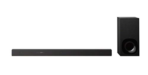 Sony HT-ZF9 Soundbar Dolby Atmos 3.1 Canali con Subwoofer Wireless, Upscaling a 7.1.2 Canali, Hi-Res Audio, Chromecast Built-in, Multi-room, USB, Bluetooth, Wi-Fi, Nero
