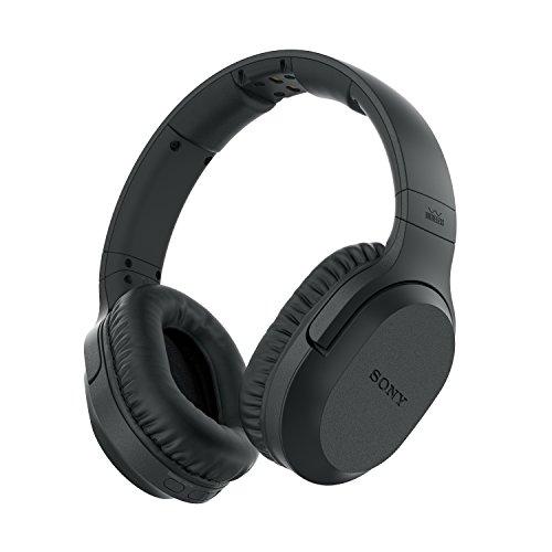 Sony MDR-RF895RK - Cuffie TV wireless over-ear con riduzione del rumore, Base di ricarica, Portata 100 metri, Batteria fino a 20 ore, Nero