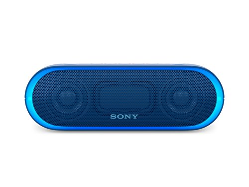 Sony SRS-XB20 Altoparlante Wireless Portatile, Extra Bass, Bluetooth, NFC, USB, Resistente all'Acqua IPX5, Blu