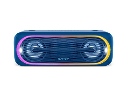 Sony SRS-XB40 Altoparlante Wireless Portatile, Extra Bass, Bluetooth, NFC, USB, Resistente all'Acqua IPX5, 1,5 kg, Blu