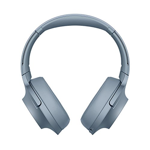 Sony WHH900N Cuffie Over-Ear Stereo, Bluetooth, Digital Noise Cancelling, Hi-Res Audio, Controllo Touch, con Microfono Integrato, Blu