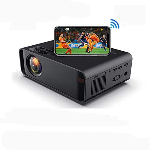 SOTEFE® Mini LED Proiettore Portatile 6000 Lumens-WiFi Proiettore Supporto 1080P Full HD Video Multimedia per Smartphone iPhone/Samsung/Sony/Hauwei/Compatibile con HDMI/USB/Carta SD/VGA/AV/TV Box/PS4