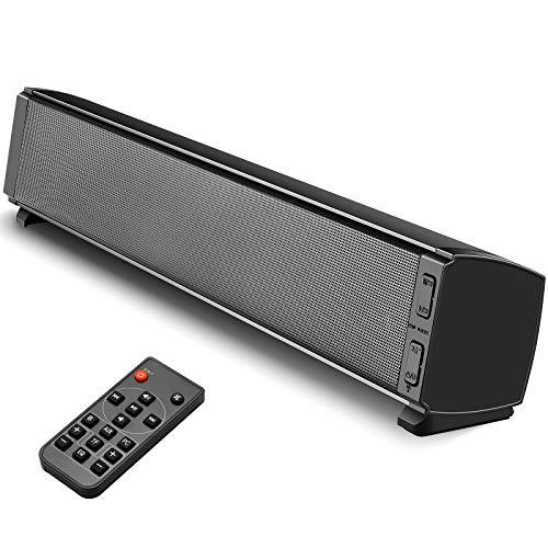 Soundbar Altoparlanti per PC e TV, Tensphy soundbar Bluetooth 5.0 da 120 dB con subwoofer integrato, audio surround per 4K e HD e Smart TV, bassi acuti regolabili, cavo RCA incluso