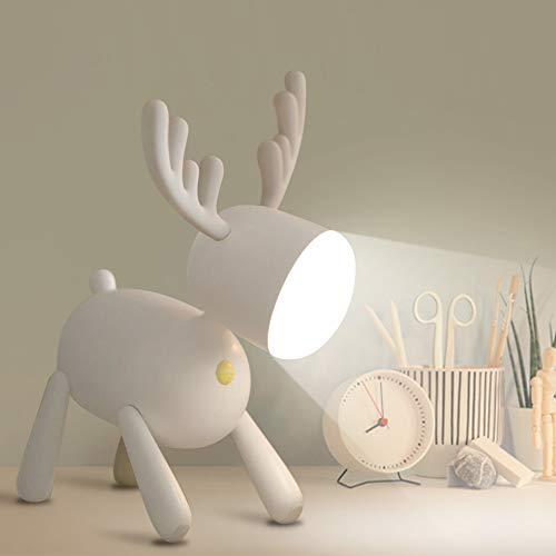 specool Luce Notturna Lampada Tavolo a LED, 2 Colore di Luce, Lampada da Scrivania Ricaricabile USB,Lampada da Notte Dimmerabile per Bambini per Camera da Letto Studio,Bambini Stanza Decorazioni