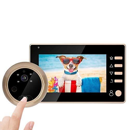 Spioncino Elettronico Digitale,Campanello Video Wireless,Peephole Viewer Schermo LCD 4,3 Pollici+Videocamera HD 1MP+150° Grandangolo+Visione Notturna IR per porta 35-110mm,per Sicurezza Domestica