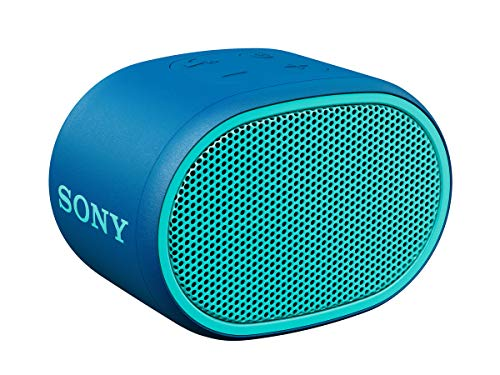 SRS-XB01 - Speaker wireless portatile con EXTRA BASS, Resistente all'acqua, Bluetooth, Blu