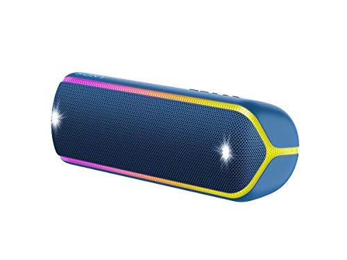 SRS-XB32 - Speaker Wireless Portatile con Extra Bass, Impermeabile e Resistente alla Polvere IP67, Effetti Luminosi, Batteria fino a 24 Ore, Bluetooth, NFC, Blu