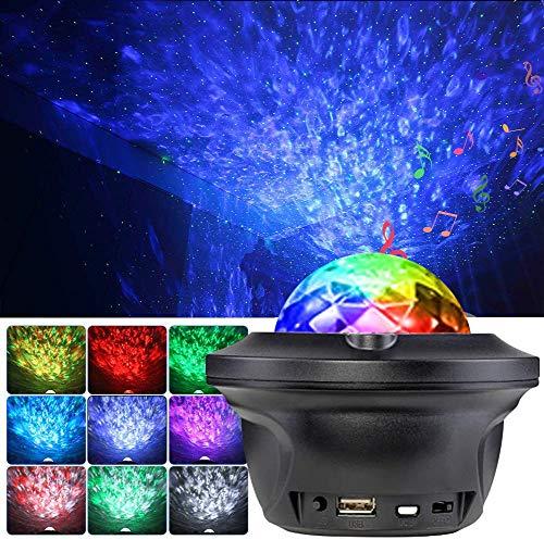 Star Projector Starry NightLight Proiettore con telecomando musicale Bluetooth che cambia colore e timer, lampada stellata dimmerabile per bambini Camera da letto Party Home Theater Illuminazione