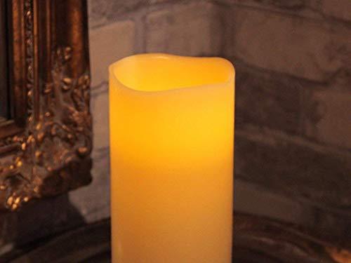 Stella LED lume di candela con cera reale, sfarfallio, timer, a batteria, box set di 20 x 10 cm, bianco caldo 068-66