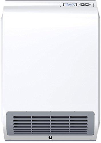 Stiebel Eltron CK 20 Trend LCD 236653-Riscaldatore elettronico Regolato, 2 kW, Display, Timer settimanale, rilevamento Finestra Aperta, 2000 W, Alluminio, Bianco
