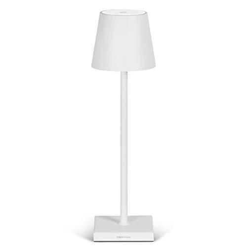 Stilosa - Lampada LED Ricaricabile USB da Tavolo a Lunga Durata - Luce Regolabile (Dimmer) con il Tocco - Casa e Ristorante - Protezione IP54 Uso Interno ed Esterno