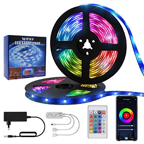 Striscia LED 15M Wifi RGB, WEILY Led Strip 15M flessibile principale principale astuta cambiante di colore del telefono di RGB[Classe efficienza energetica A +++]