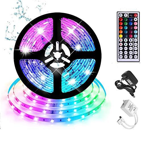 Striscia LED 5M RGB 5050 150 LEDs con 44 Telecomando 20 Colori 14 Modalità