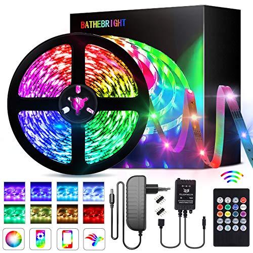 Striscia LED, Luci LED 5 Metri, LED Colorati Per Camera, LED RGB 5050 con 44 Tasti Telecomando IR, Strisce LED Colorati
