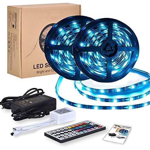 Striscia LED RGB 10 Metri | Strip Led Strisce Led Adesive con 300 Led Dimmerabile 5050 | Luci Led Colorate Interno e Esterno | Led Light Impermeabili IP65