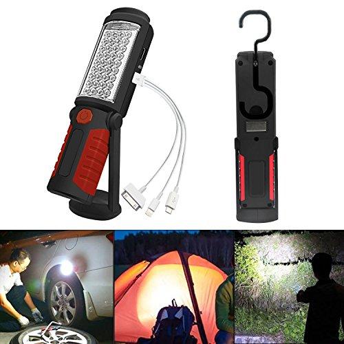 SunTop Lampada da lavoro Ricaricabile Lampade di ispezione Torcia LED Luce di Lavoro con Magnetica Clip per Auto/Campeggio/Home/Escursioni a Piedi