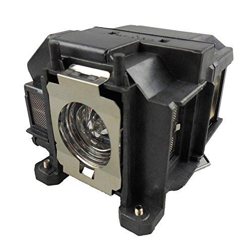 Supermait EP67 A++ Qualità Lampada di ricambio per proiettore con alloggiamento, compatibile con Elplp67, adatta per EB-S02 EB-S11 EB-S12 EB-SXW11 EB-SXW12 EB-W02 EB-W12 EB-X02, Garanzia di un anno