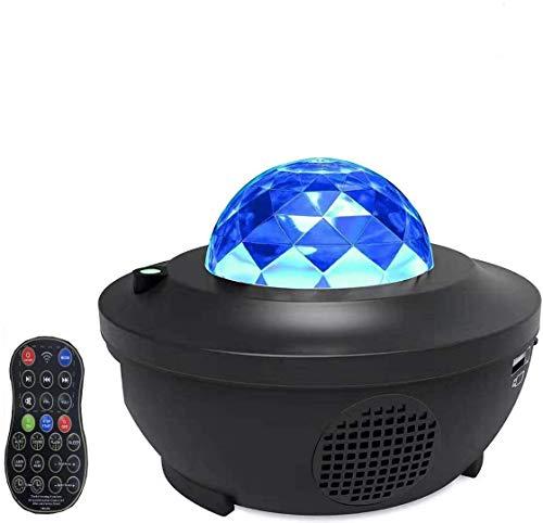Supery - Proiettore di luce notturna per bambini, 21 modalità di illuminazione, proiettore di luce notturna regolabile, lettore musicale Bluetooth, timer, USB, camera da letto, regalo
