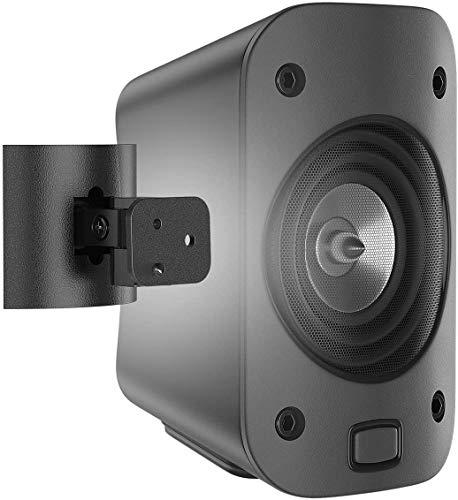 Supporti per Logitech Z906 Sistema Altoparlanti Supporto Staffa di Montaggio a Parete / Montaggio a Soffitto, Regolabile Girevoli e Inclinabili Supporto da Parete per Logitech Speaker 5.1 Z906