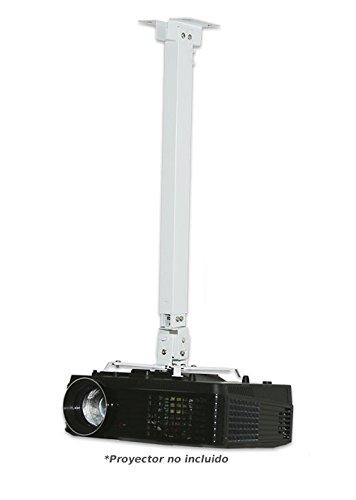 Supporto da soffitto per proiettore estensibile da 1 a 1,80 m, colore: bianco