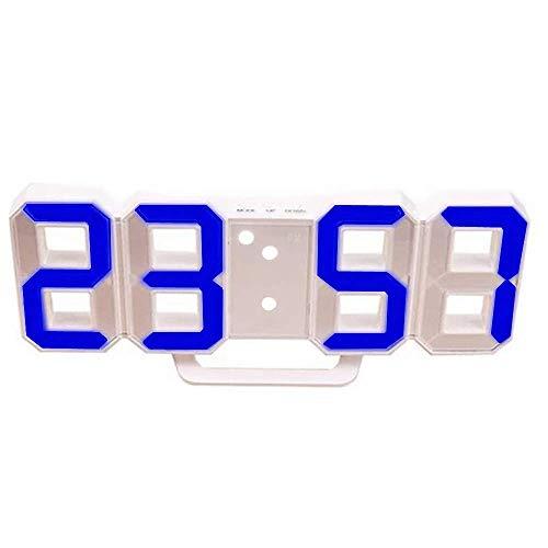 Sveglia Digitale A LED La Moda Intelligente Orologio Da Parete Può Regolare Automaticamente La Luminosità Del LED Di Notte Per La Camera Da Letto E L'orologio Da Scrivania Per Bambini (White - blue)