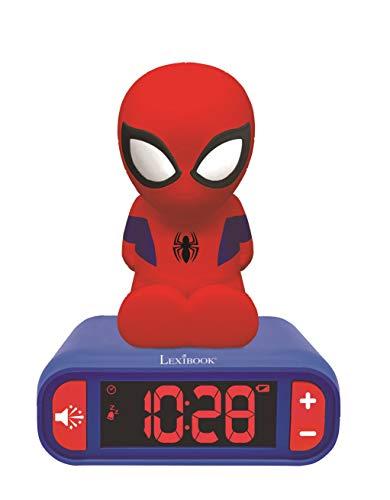 Sveglia digitale Spider-Man per Bambini con Luce Notturna Snooze e Suoni, Orologio per Bambini, Spiderman Luminoso Marvel Superheroes Colore Blu - RL800SP