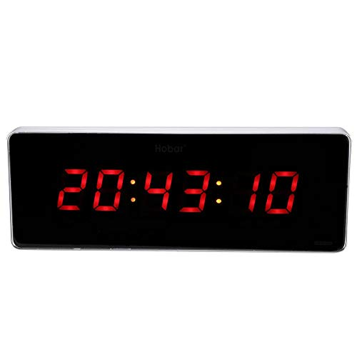 Sveglia, Orologio Digitale a LED Orologio da Parete Temperatura Orologi Spina UE 110-240 V LED Snooze Orologio da Parete Sveglia Orologio Digitale Sveglia (Ora + Minute + Seconda)