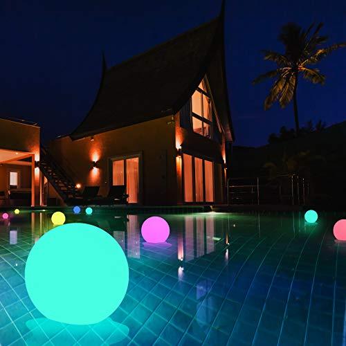 Swonuk - 4 luci LED per piscina, impermeabili, IP67, luce subacquea RGB multicolore con telecomando RF, per decorazione piscina all'aperto, giochi da bagno, luce notturna, decorazione natalizia