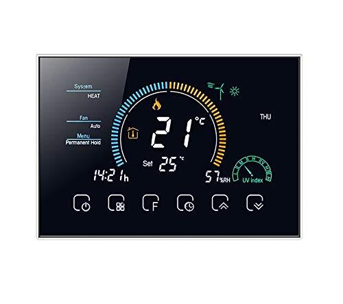 T-storm Termostato Smart Wi-Fi caldo/freddo per fan-coil a 2/4 tubi con display LCD a colori adatto a scatola 503 - compatibile con Alexa, Google Home e IFTTT
