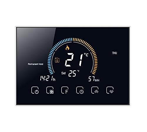 T-storm Termostato Smart Wi-Fi per riscaldamento - contatto pulito - con display LCD a colori adatto a scatola 503 - compatibile con Alexa e Google Home e IFTTT