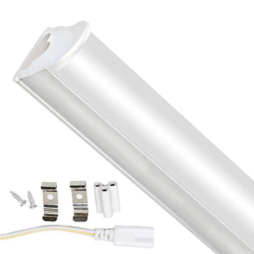 T5 Tubo Fluorescente a Led da 10W 60cm 750LM 4000K Illuminazione Interna a Risparmio Energetico per Garage, Armadietto, Ufficio, Scuola, Ristorante