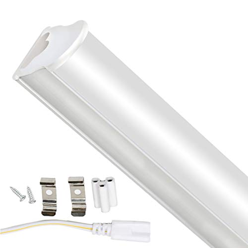T5 Tubo Fluorescente a Led da 15W 90cm 1125LM 4000K Illuminazione Interna a Risparmio Energetico per Garage, Armadietto, Ufficio, Scuola, Ristorante