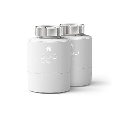 tado° Testa Termostatica Intelligente, Duo Pack, Prodotto Aggiuntivo per il Controllo Multi-Stanza, Gestione Intelligente del Riscaldamento, Facile Installazione fai da Te