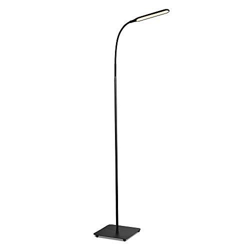 TaoTronics Lampada da Terra a LED 10W Luce con Collo d'Oca Regolabile Lampada da Pavimento Moderna 4 temperature colore con 4 livelli di luminosità Ampia area di illuminazione per Lettura e Lavoro