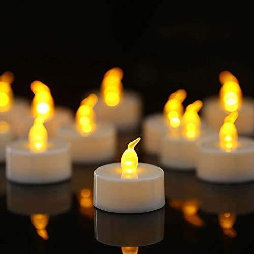 Tappovaly, 24 candeline a LED, senza fiamma, tremolanti, candele elettriche per Natale, albero di Natale, Pasqua, matrimoni, feste