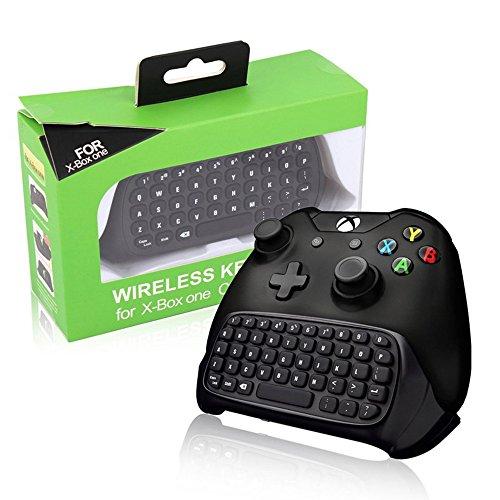 Tastiera Xbox One BestFire 2.4G Mini Wireless Chatpad Tastiera controller di gioco con auricolare Jack audio per Microsoft Xbox One Tastiera controller nero - Accoppiamento facile
