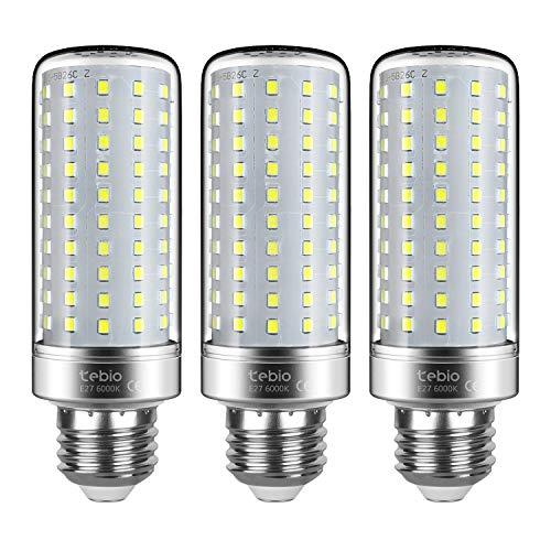 Tebio LED Argento Mais lampadine E27 25W Small Edison Screw Equivalente a 200W 2500LM Non Dimmerabile 6000K Bianco Freddo Lampadine a candela, 3pezzi